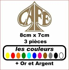 Stickers autocollant réservoir moto café racer / bobbers (3 pieces)