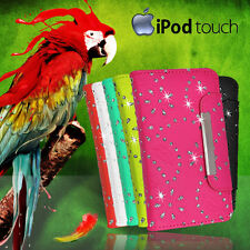 Glitter Wallet Flip Leather Case Cover For iPod Touch 5 Gen + Scrn G BLING Fancy