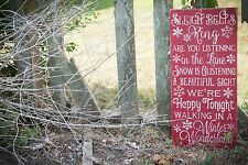 "Large Rustic Wood Sign - ""Sleigh Bells Ring...."" Christmas Holiday Decor"