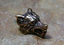Perle Pour Barbe Perle Tête de loup Bronze+En caoutchouc Accessoires cheveux 9mm