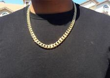 Gold Cuban Link Chain Stainless Steel Heavy Gold Filled 24 Inches Long