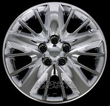 "4 New 2014-16 IMPALA 18"" Chrome Bolt On Wheel Covers Hub Caps Full Rim Skin Hubs"