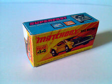 Boîte copie repro MATCHBOX Superfast new N° 44 Boss Mustang ( reproduction box )