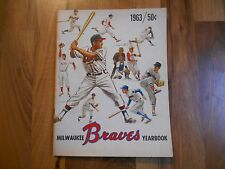 Old Vintage 1963 Milwaukee Braves Yearbook & Insert Card MLB Baseball Souvenir