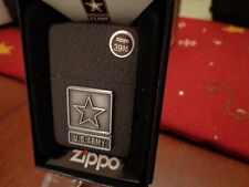 US ARMY UNITED STATES ARMY 1941 REPLICA BLCK CRACKLE ZIPPO LIGHTER MINT