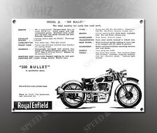 VINTAGE ROYAL ENFIELD 1938 MODEL J2 500cc IMAGE BANNER NOS IMAGE REPRODUCTION