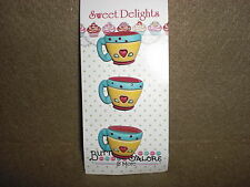 Sweet Delights COFFEE CUPS Theme Buttons - by Vickie Schreiner - Buttons Galore