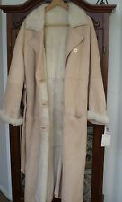 Liz Claiborne Sheepskin Shearling Leather Suede Fur Full Length Coat Size 10 NWT