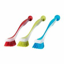 Ikea 301.495.56 Plastis Dishwashing Brush, Assorted Colors, Set of 3 , New, Free