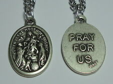 Our Lady of the Rosary w/ St Dominic & St Catherine of Siena Holy Medal on Chain