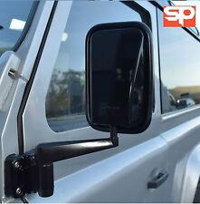 Land Rover Defender Cabezas De Espejo De Ala Negro Brillante 90 110 par RH LH x2