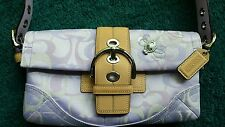 COACH Lavender Purple SIGNATURE OPTIC Soho Leather BEE LADYBUG Shoulder Bag 1555