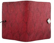 "FALLEN LEAVES Oberon Design Leather Journal 5""x7"" Small Red leaf pattern JSM57"