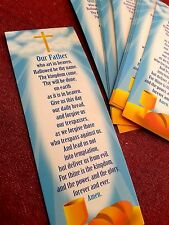 144 Lord's Prayer Religious Bookmarks bible school favors Wholesale lot