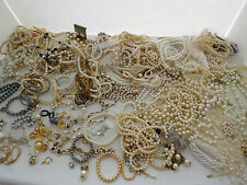 8lbs. faux Pearl Jewelry for wear, repair and craft.