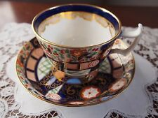 Royal Crown Derby Style Hand Painted Imari Cup and Saucer
