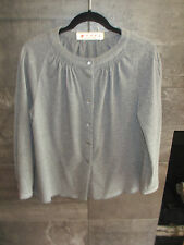Marni gray wool/cotton cardigan size 46 made in Italy