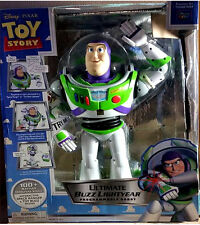 "Disney Thinkway Ultimate Buzz Lightyear Voice Command 16"" RC Robot Toy Story"