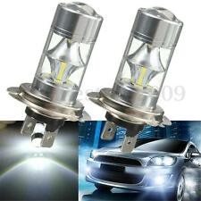 2x H7 60W 6000K Super White Samsung 2323 LED Fog Lights 12-SMD Driving Bulb 12V