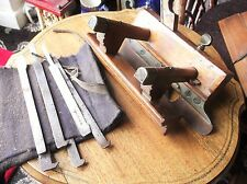 GENUINE VINTAGE HOFFMANN SASH FILLISTER PLOW PLOUGH PLANE & 8 CUTS ATKINS WARD