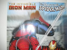 2008 INVINCIBLE IRON MAN AND AMAZING SPIDER-MAN POSTER 24 X 36  VF/NM