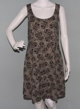 NWOT Womens American Eagle Outfitters Sleeveless Black Floral Skater Dress Sz 14
