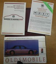 1991 Oldsmobile Cutlass Supreme Owners Manual