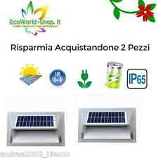 2 lampada segnapasso a energia solare lampione led applique fotovoltaico luce