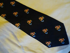 VESPA/LAMBRETTA TYPE SCOOTER CLUB TIE 100% SILK HANDMADE - VERY COLOURFUL -