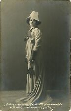 RUSSIAN ACTRESS/OPERA SINGER & ORIGINAL ca 1910s REAL PHOTO POSTCARD