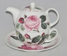Roy Kirkham Bone China Tea for One Set Stacked Teapot Cup & Saucer VERSAILLES