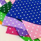 Polka Dot Wool Blend Felt Sheet 25cm x 30cm - High Quality- 10 colours available