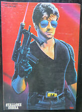 Old Vintage hollywood STALLONE COBRA WALL POSTER CRIME IS DISEASE HE'S THE CURE