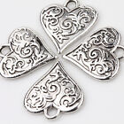 Wholesale 10x Heart Shape Tibetan Silver Charm Pendant 16x15mm Jewelry Finding