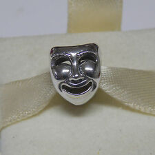 New Authentic Pandora Charm 791177 Theatre Mask Bead Box Included