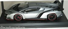 Kyosho 1/18 Scale Lamborghini Veneno Grey W/ Rd Body Stripes Car Model 09501wg