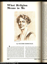 The Forum July-Dec 1932, Eleanor Roosevelt, Womens Right, Veterans Bonus