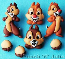 CHIP AND DALE - Disney Chipmunk Rescue Rangers 'n' Children Craft Buttons