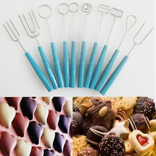 10 PCS Chocolate Dipping Fork Cake Fondue Fountain Decorating Tool DIY 1 Set