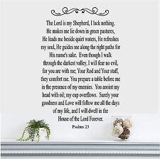 The Lord is my Shepherd Psalms 23 Wall Sticker Wall Art Vinyl Decals Christian