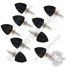 9 Vivid Black - Short Spike - Bolts For Harley Windshield Kit