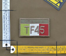 "Ricamata / Embroidered Patch ""Italian Flag TF45"" Coy Tan with VELCRO® brand hook"