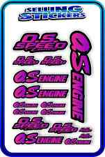 RC AIRCRAFT STICKERS HELI OS ENGINES CAR BUGGY O.S SPEED NITRO PIPE PINK PURP B