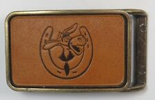 "Boy's Life Magazine ""Pedro"" leather stamped belt buckle [C484]"