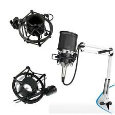 Ohuhu Microphone Suspension Boom Scissor Arm Stand Holder with Mic Shock Mount