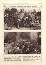1917 Churchyard Dug-out Bomb Store France Front Mural Work Of Art