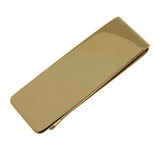 SOLID GOLD 9 CARAT MONEY CLIP. 19 mm wide FULLY HALLMARKED WITH PLAIN FINISH