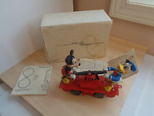 1962 Mar Lines/Marx Motorized Hand Car-Mickey Mouse/Donald Duck-O Gauge Toy