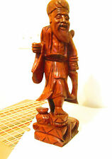 "Imposing Carved Wood GOD OF WISDOM - FUKUROKUJU- 16.5"" Tall"