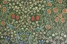 Morris & Co. curtain/upholstery fabric design Blackthorn green 1.9 mtrs floral